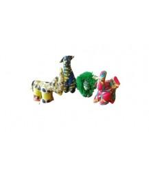 Animaletti stoffa africana Kitenge